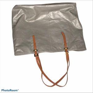 Latico Grey Adjustable Strap Leather Tote Bag